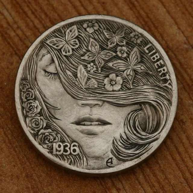 BONJOUR MES AMIS: Beautifully Carved Coins